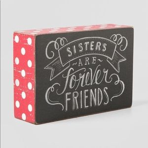 Sisters Are Forever Friends Box Sign Home Decor